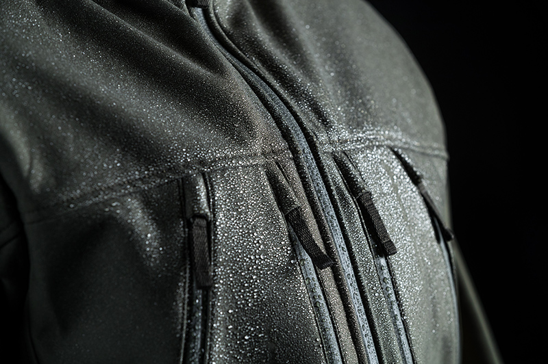 Test the DWR coating by sprinkling some water on your gear.