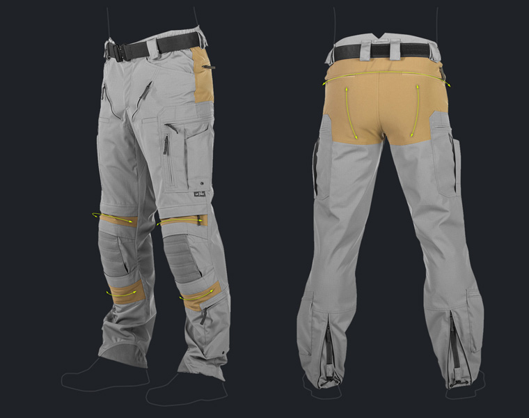 Schoeller®-dynamic stretch material is used in our Striker combat pants and P-40 lineup.