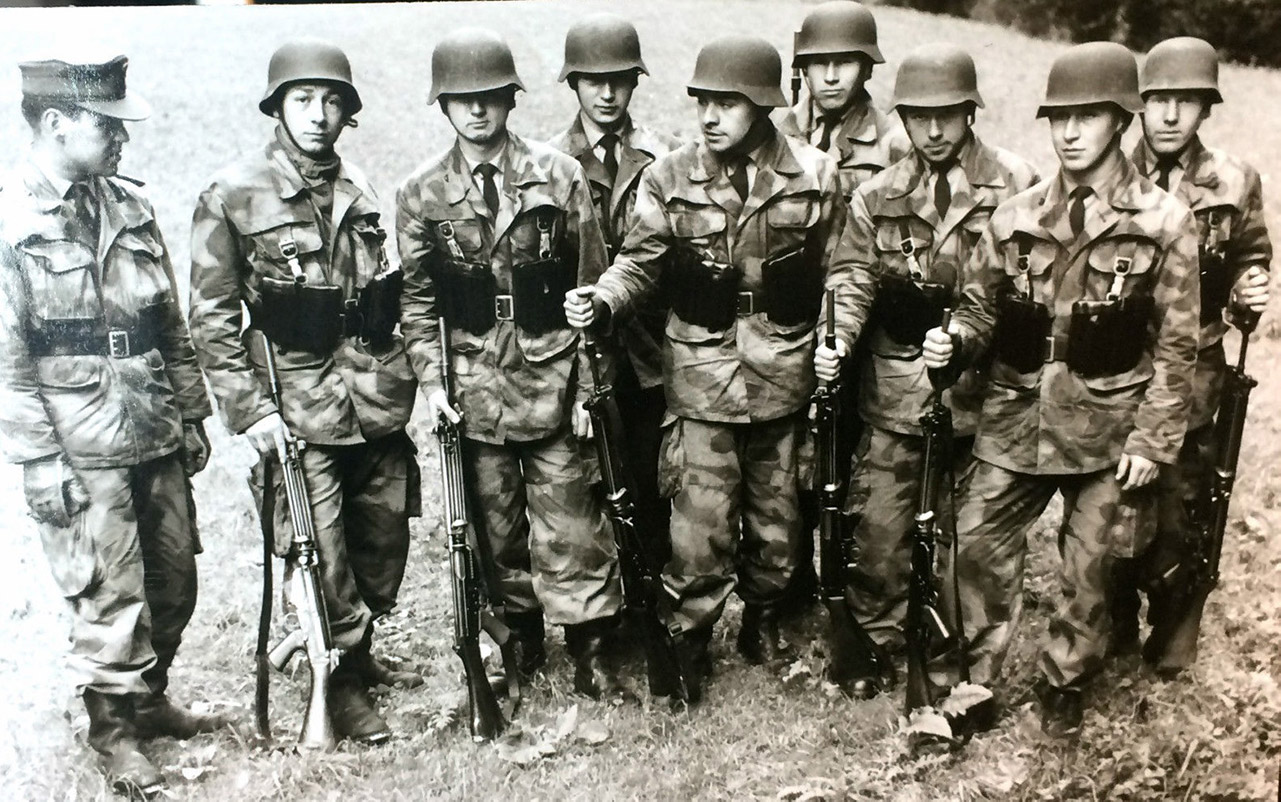 German soldiers wearing the modified Splittertarn pattern.
